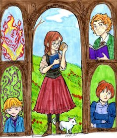 I just finished, and loved, House of Many Ways by Diana Wynne Jones and absolutely had to draw the characters.