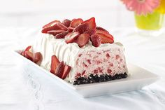 A simple wow!  This frosty dessert is as easy to make as it is impressive to serve.