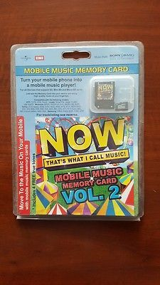 Now That's What I Call Music Mobile Music Memory Card vol.2 EU M/Stick SEALED