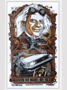 INSIDE THE ROCK POSTER FRAME BLOG: Rhys Cooper Back to the Future Poster