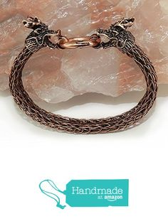 Skyrim / Game of Thrones Inspired Dragon Head Viking Knit COPPER Reiki Healing Men's Bracelet from The Enchanted Seed https://smile.amazon.com/dp/B01N6IRWXA/ref=hnd_sw_r_pi_dp_XWUVyb13MZRHP #handmadeatamazon