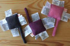 BABY Real Tag Toy / Soft Teething - Grey and Purple and pink / Soft fabric / 3 - 18 months. $12.00, via Etsy.