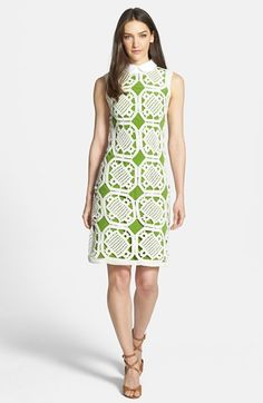 Tory Burch 'Lexi' Crochet Cotton Sheath Dress available at #Nordstrom