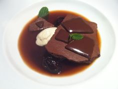A recipe I cooked from the Alinea Restaurant cookbook: CHOCOLATE, Warmed to 94 Degrees.