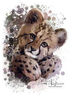 Cheetah cub watercolor painting Canvas Print ✓ Easy Installation ✓ 365 Days to Return ✓ Browse other patterns from this collection! Painting & Drawing, Watercolor Paintings, Painting Canvas, Watercolour, Cheetah Pictures, Cheetah Drawing, Baby Cheetahs, Cheetah Cubs, Watercolor Animals