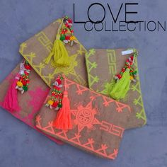 I would make a wallet like this out of burlap, leather & embroidery thread. Handmade Clutch, Handmade Bags, Leather Embroidery, Hand Embroidery, Pochette Diy, Ethnic Bag, Diy Couture, Boho Bags, Jute Bags