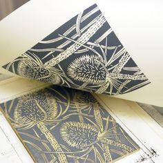 Grey Teasels getting a re-print. Linocut Prints, Art Prints, Block Prints, Linoleum Block Printing, Handmade Stamps, Linoprint, Chalk Pastels, Elements Of Art, 90s Art