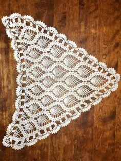 Crochet Triangle Pattern, Crochet Thread Patterns, Crochet Bolero Pattern, Crochet Earrings Pattern, Crochet Coaster Pattern, Crochet Lace Edging, Crochet Motifs, Crochet Collar, Crochet Shawl