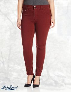 Lucky Brand Women's Plus-Size Emma Straight Jean In Fall Red
