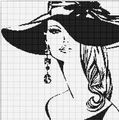 Gallery.ru / Фото #142 - Женский образ (4) - Olgakam Cross Stitch Angels, Cross Stitch Art, Simple Cross Stitch, Cross Stitch Designs, Cross Stitching, Cross Stitch Silhouette, Pixel Art Templates, Disney Cross Stitch Patterns, Hand Embroidery Projects