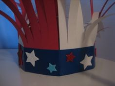 "4th of July ""firecracker"" hat project for children"