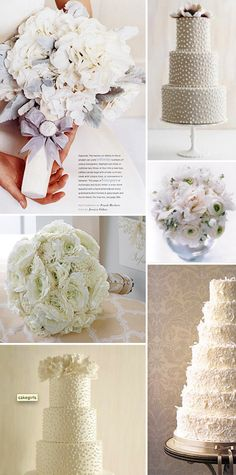 wedding cakes with ranunculus... It's a Nice Day for a White Wedding