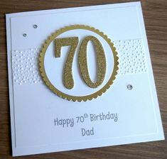 100th Birthday Card, Simple Birthday Cards, Birthday Cards For Boys, Masculine Birthday Cards, Birthday Numbers, Handmade Birthday Cards, Man Birthday, Personalised Birthday Cards, Special Birthday