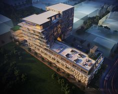 Enigma on the Park condos   Quadrangle Architects for Aragon Properties   Worms view