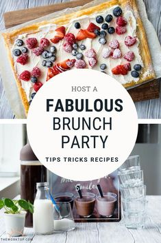 Want to host a fabulous brunch party and need some inspiration? Find brunch party ideas, including food and menu. Hosting brunch can be easy and effortless! Ideas on The Worktop. || #brunch #brunchparty #theworktop