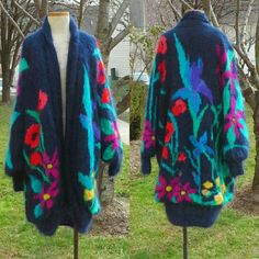 One Of A Kind Oversized Batwing Flower Shrug