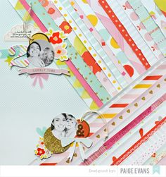 Lovely Time by @paigeevans for American Crafts #scrapbooking