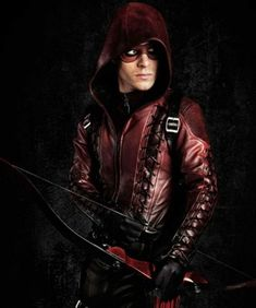 Red Arsenal Jacket is made of PU leather material. This Arrow Red Leather Jacket Hooded Style is now available at Fjackets for the fans of Arrow Red Bomber Jacket, Hooded Jacket, Jacket Men, Roy Arrow, Arsenal Arrow, Leather Jacket With Hood, Colton Haynes, My Superhero, Dc Legends Of Tomorrow