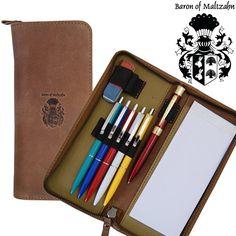 BARON de MALTZAHN - Etui pour 6 stylos cuir marron