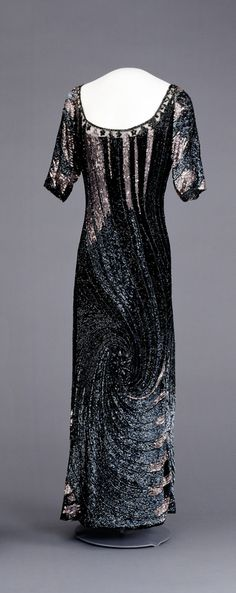Queen Maud of Norway sequined evening dress, whirl design, 1918-1920, National Museum of Art, Architecture and Design