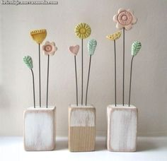 Children's Day Gift Kids Clay Flowers – Air Dry Clay Clay Crafts For Kids, Diy For Kids, Diy And Crafts, Clay Projects, Diy Projects To Try, Children's Day Gift, Deco Nature, Clay Ornaments, Salt Dough