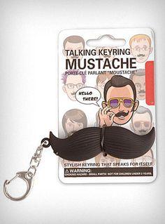 Talking Mustache Keychain   PLASTICLAND