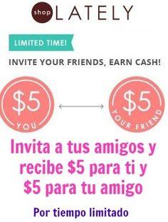 Gratis crédito de $5 para nuevos usuarios en ShopLately - Súper Baratísimo o Gratis