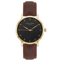 NIKOLAJ · Mens watch · Gold watch brown leather