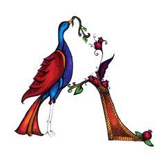 English Alphabet using Armenian Style Bird-Letters by Alik Eleyjian, via Behance