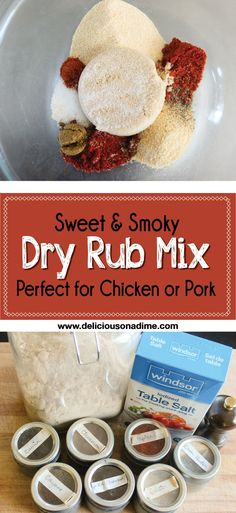 This Sweet and Smoky Dry Rub Mix is absolutely delicious on chicken or pork, and you can make it in less than 5 minutes using pantry staples you probably already have on hand! Try it out next time you're grilling and take your barbecue to the next level!