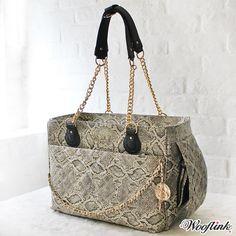 Wooflink Chic Bag 3 in Snake Small Pet Carrier, Dog Carrier Purse, Dog Carrier Bag, Designer Dog Carriers, Dog Travel, Pet Carriers, Dog Accessories, Straw Bag, Snake
