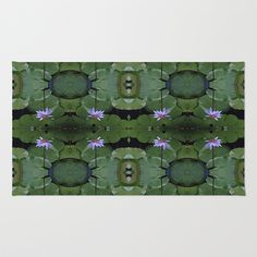Water Lily Pattern Area & Throw Rug by LMGlenn - $28.00
