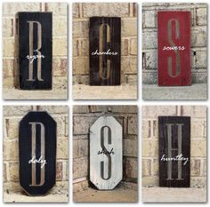 Monogram Initial w/Name Overlay Sign...I'll take one!    #cricut