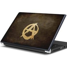 Artifa Anarchy Sign Laptop Skin ❤ liked on Polyvore featuring accessories and tech accessories