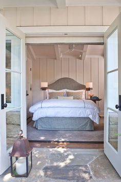 Beach cottage bedroom.