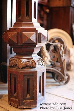Antique newel post - Southern Accents Architectural Antiques - www.sa1969.com