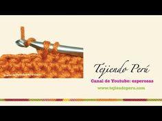 Crochet: cómo tejer el punto bajo o medio punto - YouTube