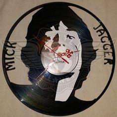 Vinyl Wall Clock MICK JAGGER