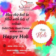 Your child's heart is important to us DCHC provide best pediatric cardiologist in Delhi. This child heart hospital treats all heart defects in children even congenital one. Happy Holi, Baby Health, Kids Health, Heart Hospital, Pulmonary Hypertension, Cardiology, Good Doctor, Heart For Kids