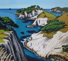 Te Pupuha Point - South Hahei by Tony Ogle for Sale - New Zealand Art Prints