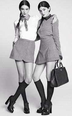 Kendall and Kylie Jenner by Vladimir Marti Marie Claire Latin America March 2014