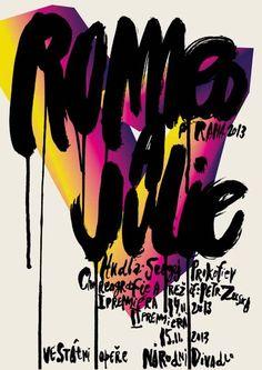 Affiche pour Roméo et Juliette à Prague – Peter Bankov