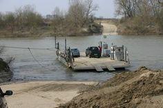 Tiszapart; River flow driven ferry - trail bridge between Aranyosapáti and