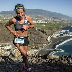 SUUNTO AMBIT3 SPORT CORAL #SuuntoSpotted on Emelie Forsberg at #Transvulcania15 VK. Get it girl!