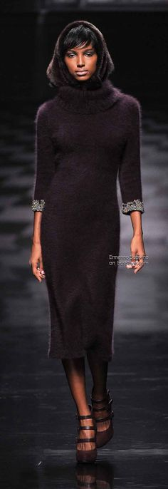 Ermanno Scervino Fall Winter 2013-14 RTW Beautiful without being too clingy.  Slip on an #undershirt for women by #Annienymotee and #dry-clean it less.