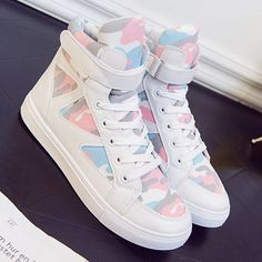 Fashion High Top Canvas Shoes Women Casual Shoes Female Trainers White Skateboard Shoes Basket Chaussure Femme
