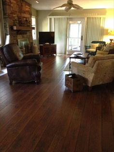 BuildDirect – Laminate - 12mm Wide Board Collection – Hickory Antique - Living Room View
