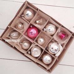 Vintage Christmas decoration-I like that 1 is pink-very cool picture.