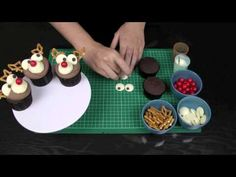 Christmas Cupcakes! Rudolf the Red Nosed Reindeer Cupcake - A Cupcake Addiction How To Tutorial
