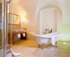 lovely bathroom in hotel schloss muehldorf in austria Most Beautiful, Beautiful Places, Clawfoot Bathtub, Places Ive Been, Castle, Bathroom, Austria, Home, Washroom